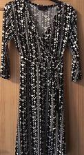 Next BNWOT Black & White Wrap Dress Size 12
