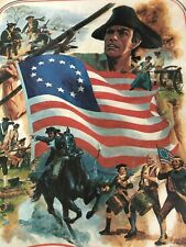 """Vintage 1776-1976 Bicentennial 200 Year Picture 1974 Litho U.S.A. Poster 20x16"""""""