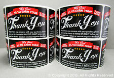 500 eBay Amazon Etsy Thank You For Your Purchase Shipping Labels Stickers 2x3