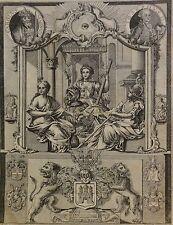 Franz Nicolaus Rolffsen 1719-1802  Kupferstich um 1780: WAPPEN HAMBURG ORNAMENTE