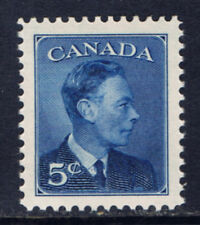 Canada #293(1) 1950 5 cent deep blue King George VI MNH CV$2.00