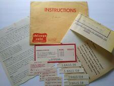 Chicago Coin Blondie 1956 Original Pinball Machine Game Schematic NOS Cards Lot