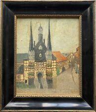Altes Ölbild mit schwarzem Bilderrahmen Antik signiert Süddeutschland