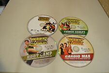 Lot of 4 The Biggest Loser DVDs Disc Only Guaranteed To Play Lot#12