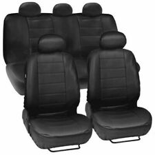 Synthetic Leather Auto Car Seat Covers Front Rear+Headrest Full Set Waterproof