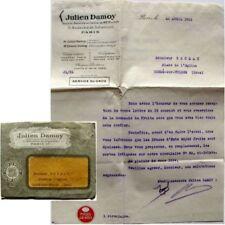 Enveloppe + courrier 1925 Julien Damoy épicerie vin Commande changement de tarif
