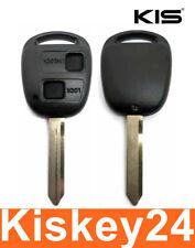 2Tasten Spare Key Housing + Blank Rubber For Toyota Corolla E12 Yaris