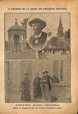 Tombe Frédéric Mistral Eglise de Maillane Bouches-du-Rhône WWI 1914 ILLUSTRATION