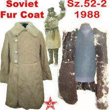 RARE Sz.52-2 Soviet Sheepskin Coat ARMY TULUP Fur Coat Jacket RKKA 1988