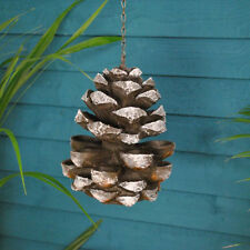 Fallen Fruits Cast Iron Effect Hanging Pine Cone Bird Feeder Garden Ornament