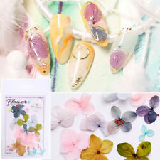 Nail Dried Flowers 3D Dry Hydrangea Flower Nail Art Decoration Stickers Decals
