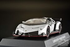 [KYOSHO 1/64] Lamborghini Veneno Roadster Silver/Red Line Minicar Lottery