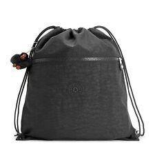 Kipling Supertaboo Drawstring/Swim Bag TRUE BLACK RRP £28