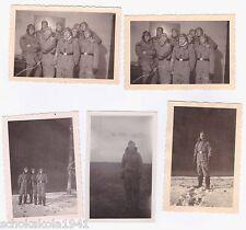Original 5 Fotos --Soldaten der Luftwaffe mit Fliegerhaube Fliegerkombi--