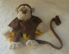 Animal Monkey Backpack Harness Safety Leash Plush Brown