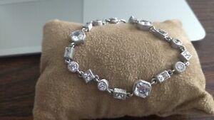 Judith Ripka Diamonique Bracelet / Sterling Silver CZ /Excellent Condition!!!!!