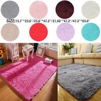 Fluffy Rugs Shaggy Area Rug Carpet Home Area Carpet Floor Bedroom Mat Kids Room