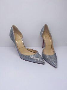 Christian Louboutin Silver Iriza Glitter Rainbow Heels 36 3 Rare Style RRP £740
