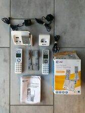 AT&T DUAL HANDSET CORDLESS TELEPHONE DECT 6.0 AND BASE WHITE CL81211