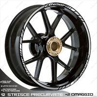 PROFILI ADESIVI SPORT CERCHI STICKERS COMPATIBILE CB 650F CB650 F BIANCO ARGENT