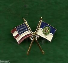GIRL SCOUT 1941 BIRTHDAY GIFT - CROSSED FLAGS PIN