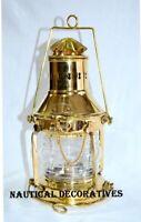 Oil Lantern Lamp Vintage Brass Nautical Kerosene Oil Lantern Antique Brass