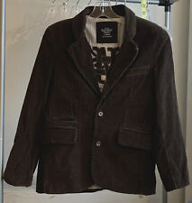 Old Navy Woman's Sz Large Brown Corduroy Blazer Jacket Striped Lined