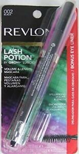 revlon lash potion mascara 002 black with bonus kajal eyeliner in matte charcoal