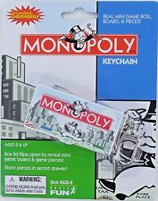 MONOPOLY miniature board game Keychain Keyring Basic Fun Token Dice Classic NEW