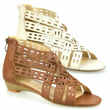Women's Synthetic Leather Gladiators Wedge Sandals & Beach Shoes