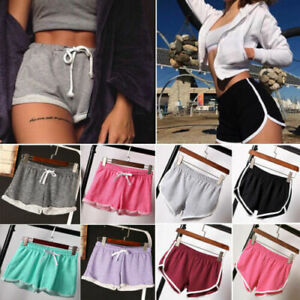 Women Summer Causal Gym Yoga Running Shorts Beach Sports Plus Size Pants