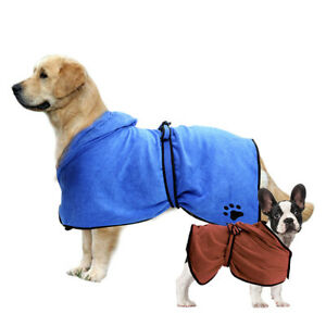 Super Absorbent Microfiber Dog Bathrobe Fast Drying Pet Bath Dog Towel