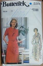 Butterick sewing pattern no.5504 Ladies Dress size 16