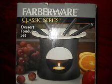 FARBERWARE Classic Series Dessert Fondue Set with Recipe Book NIB