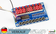 Digitales LED Display 8-Tasten Modul 8-Bit TM1638 für Arduino, Raspberry Pi, DIY