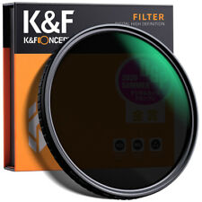 K&F Concept 52mm ND Lens Filter ND2-ND32 Fader Variable  NO Spot X for Camera