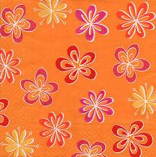 4 servilletas napkins tovaglioli serviettentechnik flores flores retro (768)