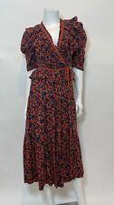 Ulla Johnson Lisette Floral Midi Dress in Rosewood Size 4
