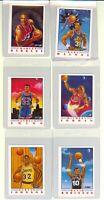 1991 Fleer Illustrations Basketball Michael Jordan Magic Ewing Complete Set of 6