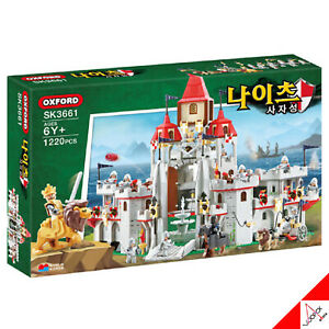 Oxford Knights LION CASTLE Brick Mania Building Block Assembly Kit Toy #SK3661