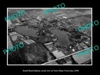 OLD POSTCARD SIZE PHOTO SOUTH BEND INDIANA AERIAL VIEW OF NOTRE DAME c1940