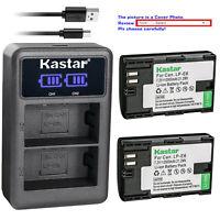 Kastar Battery LCD Dual Charger for Canon LP-E6 LP-E6N LC-E6E & Canon EOS 60Da