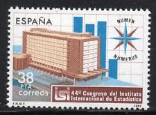 España estampillada sin montar o nunca montada 1983 SG2737 Instituto Internacional de Estadísticas, Madrid