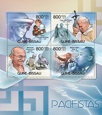 Pacifists Pope John Paul II Gandhi Diana Guinea-Bissau m/s Mi.6032-35 #GB12408a
