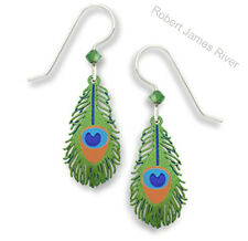 "Sienna Sky  ""Peacock Feathers""  Earrings"