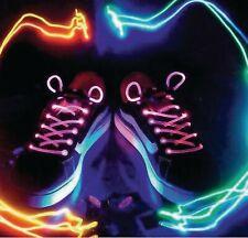 LED Shoe Laces Flash Light Up Colours Glow Strap Flashing Shoelaces Party Cool
