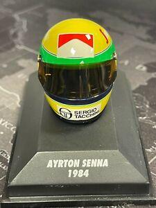 Ayrton Senna F1 Helmet Collection 1984 MINICHAMPS 1:8 - 540 380419 RARE