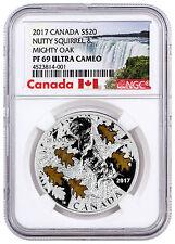 2017 Canada Nutty Squirrel and Mighty Oak 1 oz. Silver $20 NGC PF69 UC SKU45612