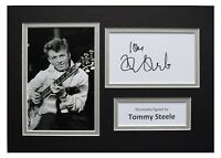 Tommy Steele Signed Autograph A4 photo display Music Memorabilia AFTAL COA