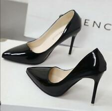 WOMENS LADIES MID STILETTO POINTED TOE HIGH HEELS PARTY PUMPS COURT SHOES SIZE
